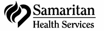 sam health bw Health svcs text & logo